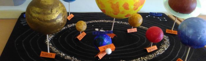Realización de Maquetas del Sistema Solar 9/10/2017